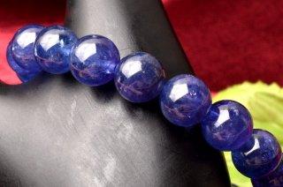 天然石 高品質タンザナイト 8mm ブレスレット tan-08001
