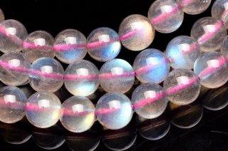 天然石 ピンクラブラドライト 3連 5.5mm ブレスレット lab-05.5001-3