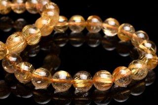天然石 ゴールドルチルクォーツ 9mm ブレスレット rut-09003