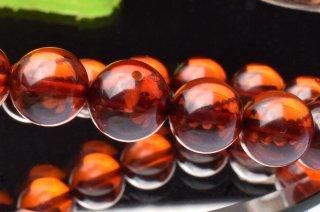 天然石 アンバー 琥珀 9mm ブレスレット amb-09003