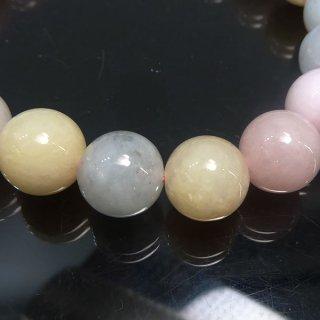 天然石 マルチカラーアクアマリン 10mm ブレスレット ber10003m
