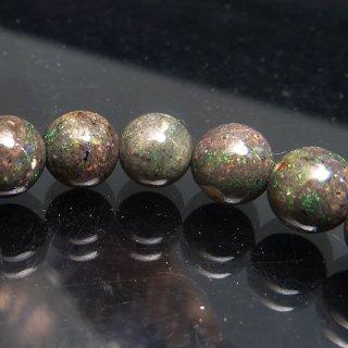 天然石 ブラックオパール 6.5mm ブレスレット opa06.5002b