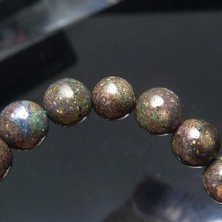 天然石 ブラックオパール 6.5mm ブレスレット opa06.5003b