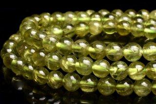 天然石 ペリドット 3連 5mm ブレスレット per-05002-3