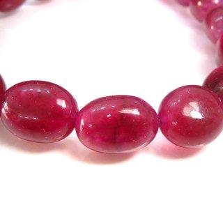 天然石 ルビー タンブル 9〜12mm ブレスレット ruby10006t
