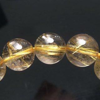 天然石 ゴールドルチルクォーツ 9mm ブレスレット rut09018