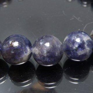 天然石 アイオライト 9.5mm ブレスレット io09.5002