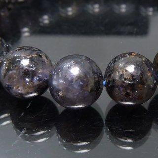 天然石 アイオライト 9.5mm ブレスレット io09.5003