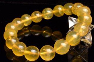 天然石 イエローオパール 11.5mm ブレスレット opa-11.5003y
