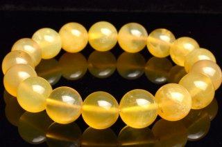 天然石 イエローオパール 12.5mm ブレスレット opa-12.5001y