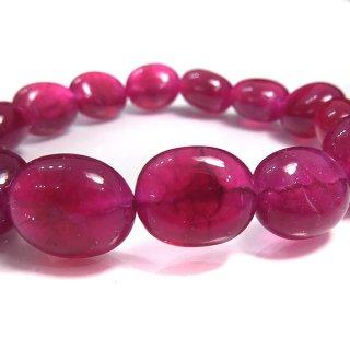 天然石 ルビー タンブル 10〜15mm ブレスレット ruby14002t