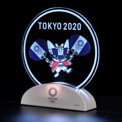 LEDアクリルスタンド(東京2020オリンピックマスコット)はっぴとうちわ