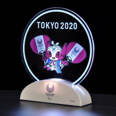 LEDアクリルスタンド(東京2020パラリンピックマスコット)はっぴとうちわ