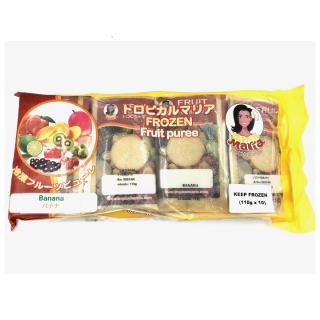 市価1,717円【冷凍 加糖ピューレ・バナナ】1袋(110g×10個)