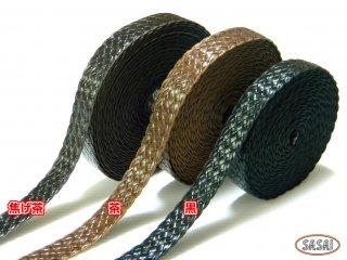 【持ち手】アクリルメッシュテープ 25mm・40mm・60mm幅/黒色・こげ茶色・茶色 10cm単位 <長さ・使い方で自由自在>手芸・バッグ・小物作りに