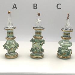 【SALE】 ガラスの香水瓶 SS(約7cm)グリーン(メール便可) アロマ容器・アロマボトルを可愛く♪