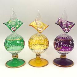 【キャンペーン:送料無料・アロマボールプレゼント】ガラスの香油瓶  (約17cm) アロマ容器・ボトルを可愛く♪