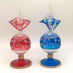【キャンペーン:送料無料・アロマボール プレゼント】ガラスの香油瓶   (約17cm)  アロマ容器・アロマボトルを可愛く♪