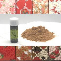 アボリジニの森より 豪州サンダルウッド(白檀)とブルーサイプレスで作るアロマ塗香の材料と千代紙の小箱(メール便可)