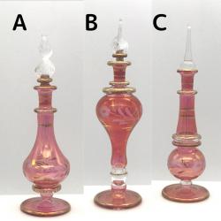 【SALE】吹きガラスの香水瓶 Sサイズ(約13cm)レッド2 アロマ容器・アロマボトルを可愛く♪