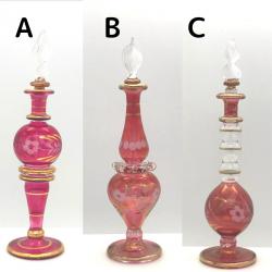 【SALE】吹きガラスの香水瓶 Sサイズ(約13cm)レッド3 アロマ容器・アロマボトルを可愛く♪