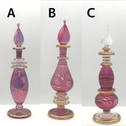 【SALE】吹きガラスの香水瓶 Sサイズ(約13cm)レッド4 アロマ容器・アロマボトルを可愛く♪