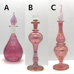 【SALE】吹きガラスの香水瓶 Sサイズ(約13cm)レッド5 アロマ容器・アロマボトルを可愛く♪
