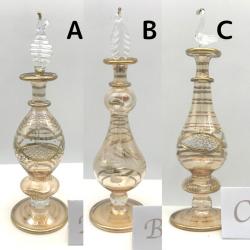 【SALE】吹きガラスの香水瓶 M (約15-17cm)イエロー3 アロマ容器・アロマボトルを可愛く♪