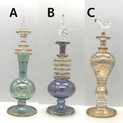 【SALE】吹きガラスの香水瓶 M (約15-17cm) 2 アロマ容器・アロマボトルを可愛く♪