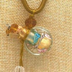 【SALE】 小さなガラス瓶のアロマペンダント  M3 クリア(メール便可)長さ調節可能・香りを胸元に♪