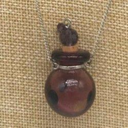 【メール便・送料無料】小さなガラス瓶のアロマペンダント PSK9 パープル3種 ワードローブや気分に合わせて香りを胸元に。可愛いガラスのアクセント♪