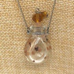 【メール便・送料無料】小さなガラス瓶のアロマペンダント PSK10 イエロー2種ワードローブや気分に合わせて香りを胸元に。可愛いガラスのアクセント♪