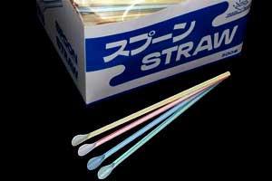 スプーンストロー 1箱<br/>(500本) 4色混合