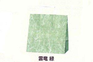 (手提紙袋)25CBE判 雲竜柄・緑 <br>50枚入