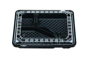(弁当容器)CY-2-1黒<br>透明蓋セット 50枚入