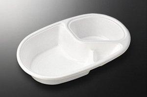 使い捨てカレー容器<br>CFカレーNo.1<br>本体のみ<br>(オプション:蓋付)<br>50枚入