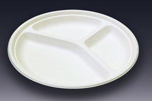 (紙皿)モールド<br/>三仕切プレート<br/>MM−10 中 50枚