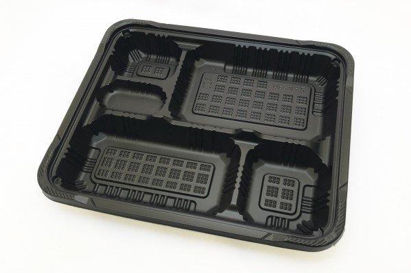 (弁当容器)RP-4-2H黒<br>KF蓋セット 50枚入
