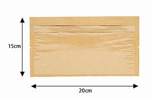 (ベーカリー袋)窓付きディッシュバッグL<br>1袋100枚<br>1ケース3000枚