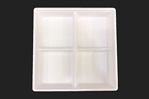 (万能容器)SDキャセロ<br>20-20 4S<br>本体・透明高蓋セット<br>300枚 (色柄ホワイト・ブラックの二種類からお選び下さい)
