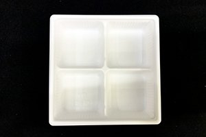 (万能容器)SDキャセロ<br>15-15 4S<br>本体・透明高蓋セット<br>800枚 (色柄ホワイト・ブラックの二種類からお選び下さい)
