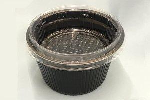 (どんぶり容器)<br>MFPドリスカップ142-790黒<br>中皿付内嵌C字蓋セット <br>600枚