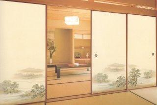 【襖紙】ちとせ214(2枚柄・山水画)