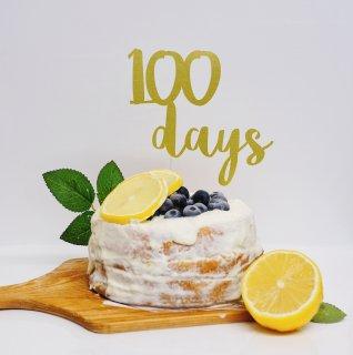 【全3カラー】100days ケーキトッパー