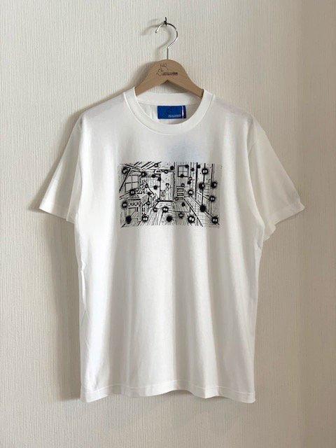 くろすけスタンプTシャツ/土間 (大人)