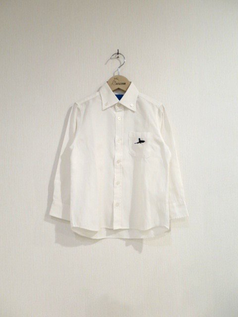 キキ手刺繍シャツ (1点もの/サイズ110)