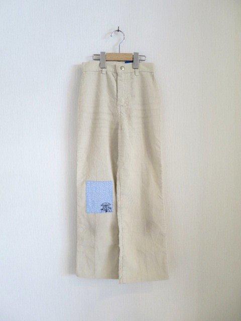 トトロ手刺繍パンツ (1点もの/サイズ120)