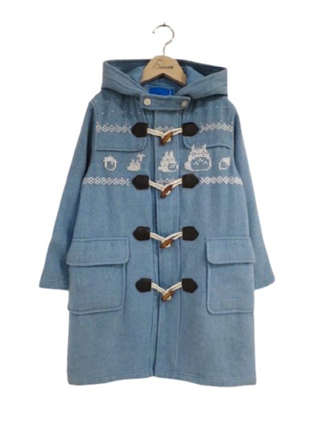 雪柄トトロ手編み縫いコート (1点もの/サイズ150)