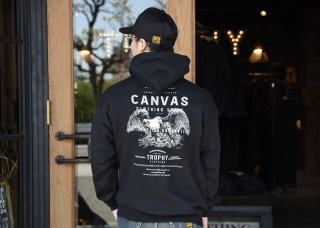 <img class='new_mark_img1' src='https://img.shop-pro.jp/img/new/icons1.gif' style='border:none;display:inline;margin:0px;padding:0px;width:auto;' />TROPHY CLOTHING x CANVAS - Screaming Eagle Pullover Hooded