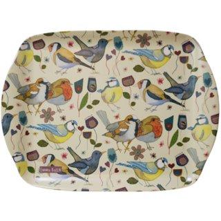 <br>Emma Ball 【EBMMD72】<br>Medium Tray トレイ<br>Stitched Birdies